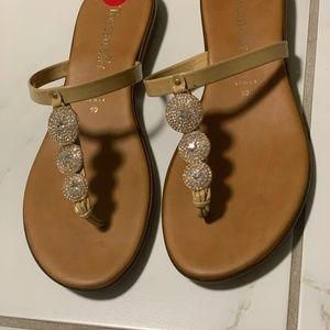 Italian Tan w/ Silver Rhinestone Sandals S…